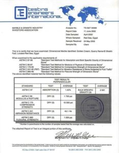 Marble Certifications